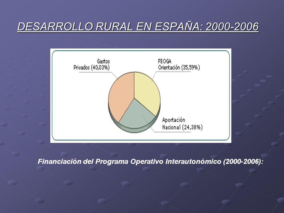 DESARROLLO RURAL EN ESPAÑA: 2000-2006