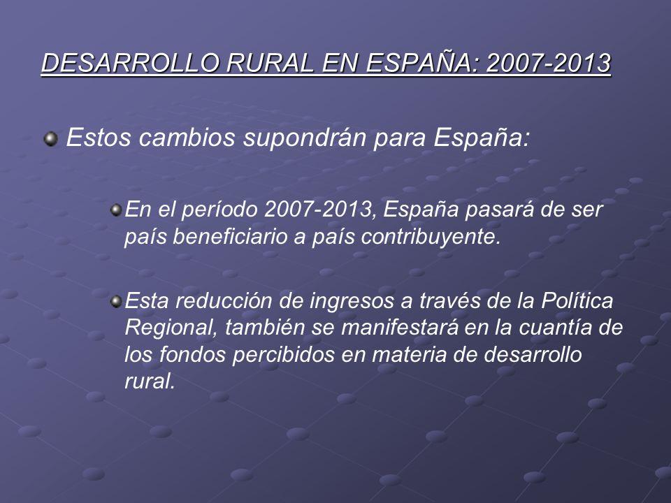 DESARROLLO RURAL EN ESPAÑA: 2007-2013