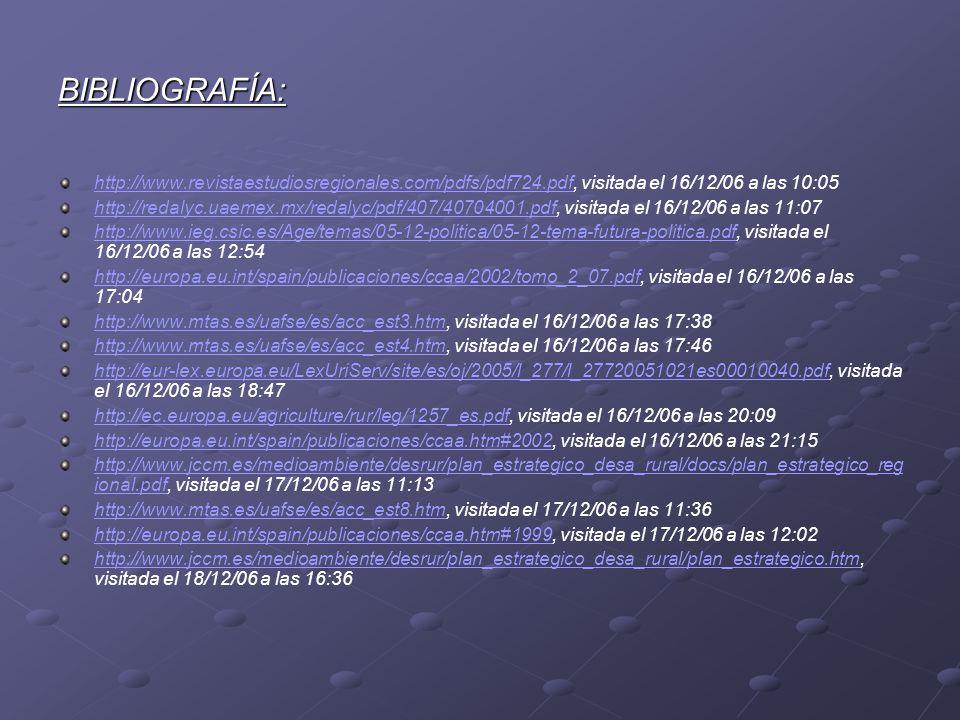 BIBLIOGRAFÍA: http://www.revistaestudiosregionales.com/pdfs/pdf724.pdf, visitada el 16/12/06 a las 10:05.