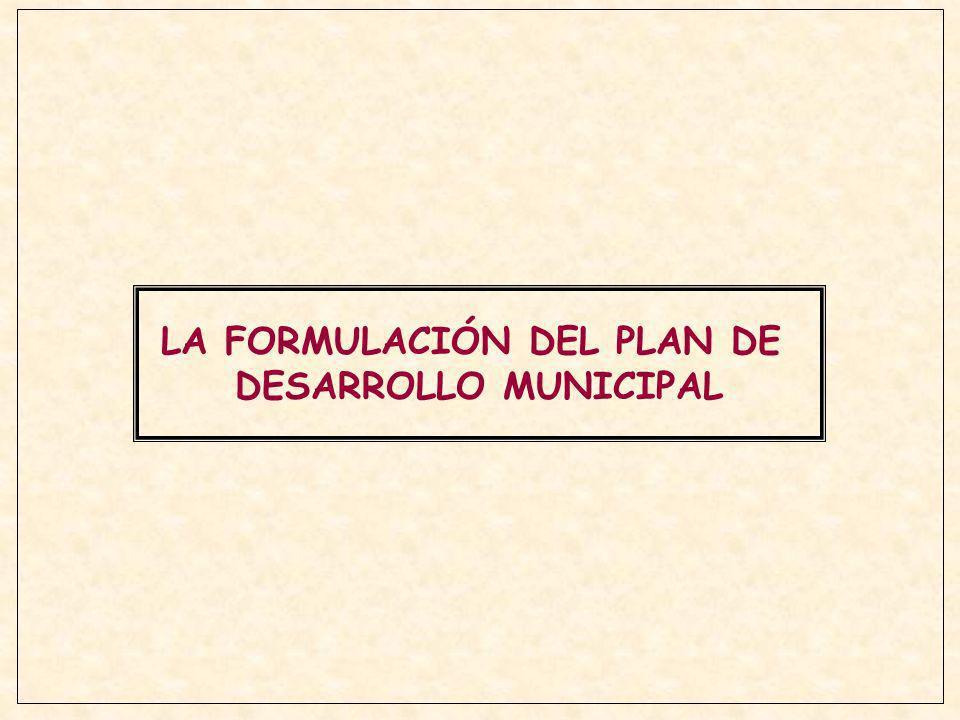 LA FORMULACIÓN DEL PLAN DE