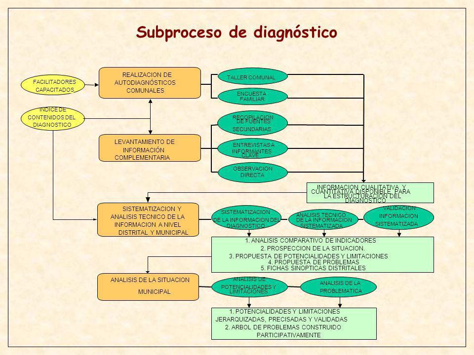 Subproceso de diagnóstico
