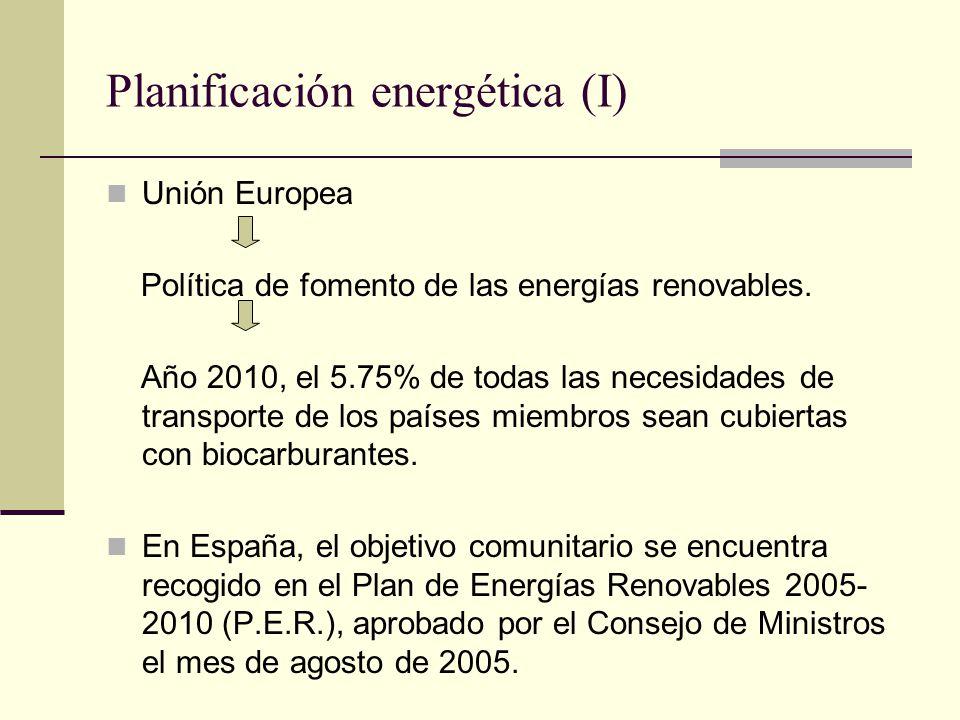 Planificación energética (I)