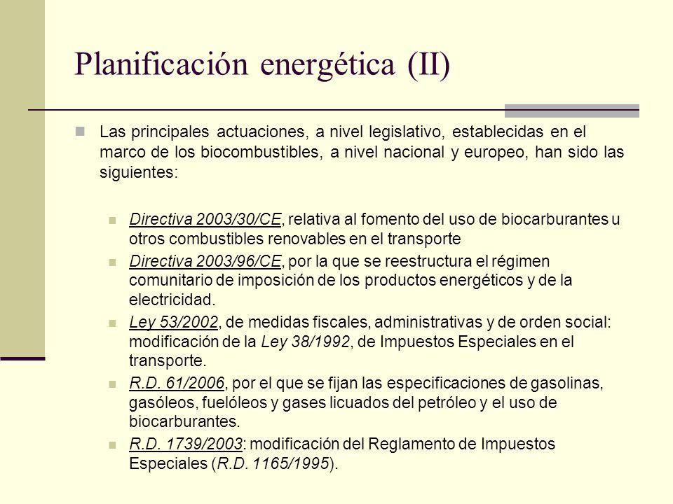 Planificación energética (II)