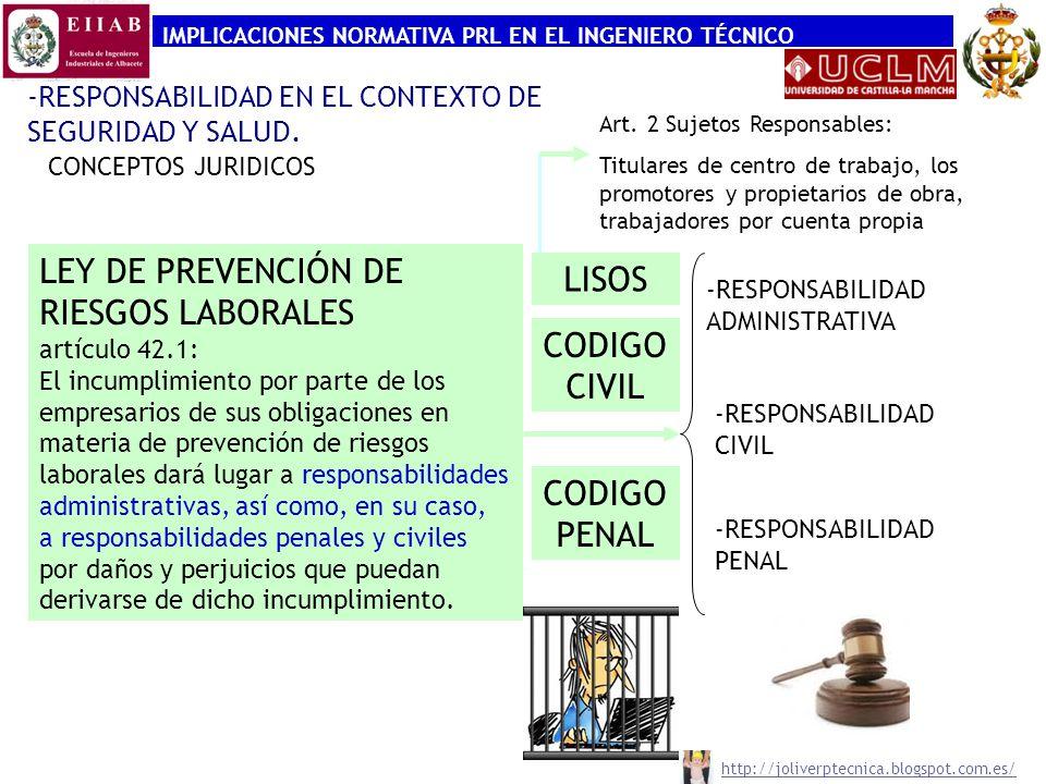 LEY DE PREVENCIÓN DE RIESGOS LABORALES LISOS