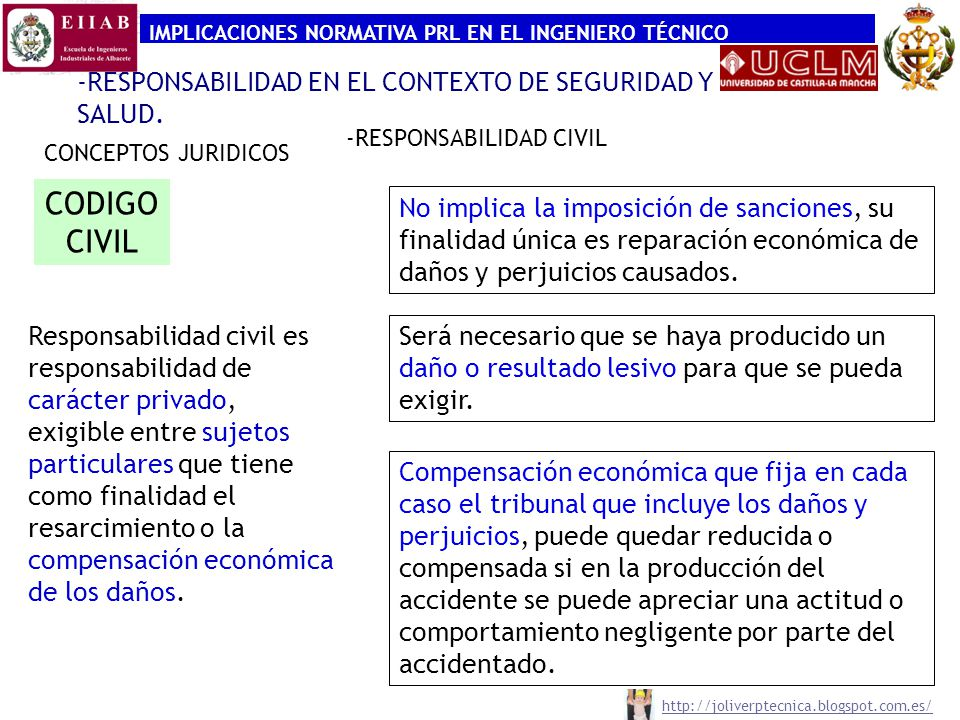 CODIGO CIVIL -RESPONSABILIDAD EN EL CONTEXTO DE SEGURIDAD Y SALUD.
