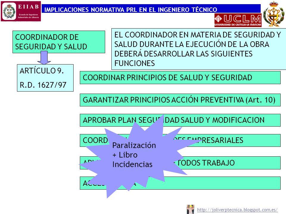 COORDINADOR DE SEGURIDAD Y SALUD