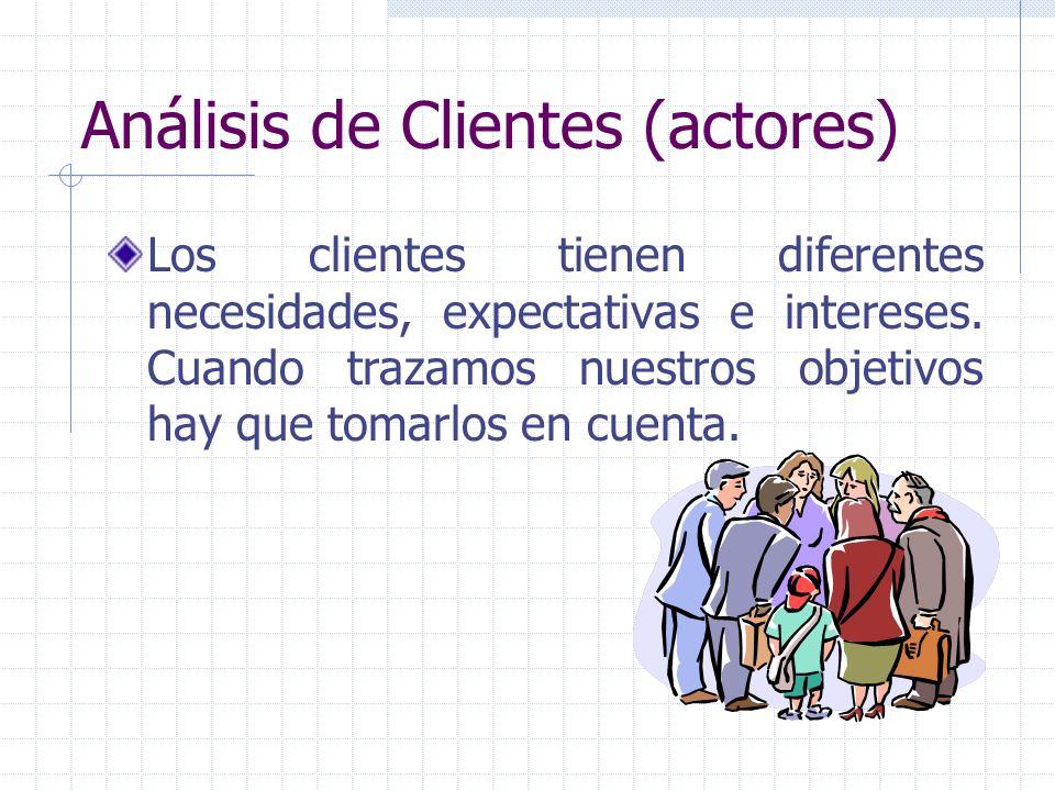 Análisis de Clientes (actores)