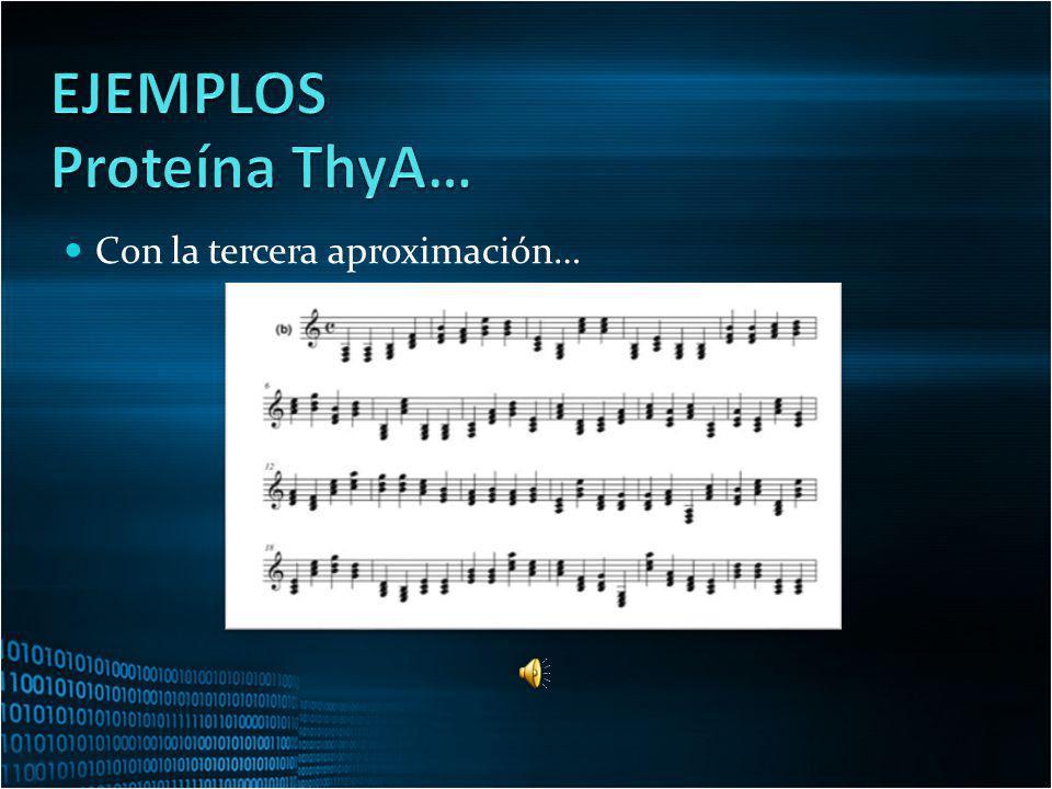 EJEMPLOS Proteína ThyA… Con la tercera aproximación…
