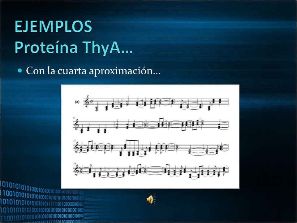 EJEMPLOS Proteína ThyA… Con la cuarta aproximación…
