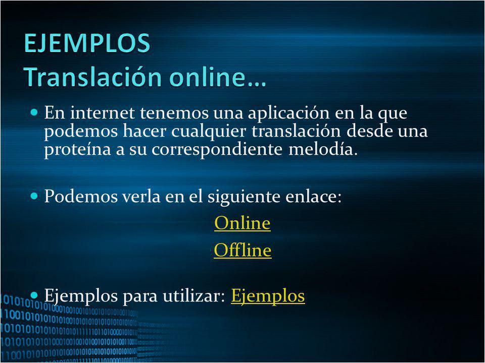 EJEMPLOS Translación online…