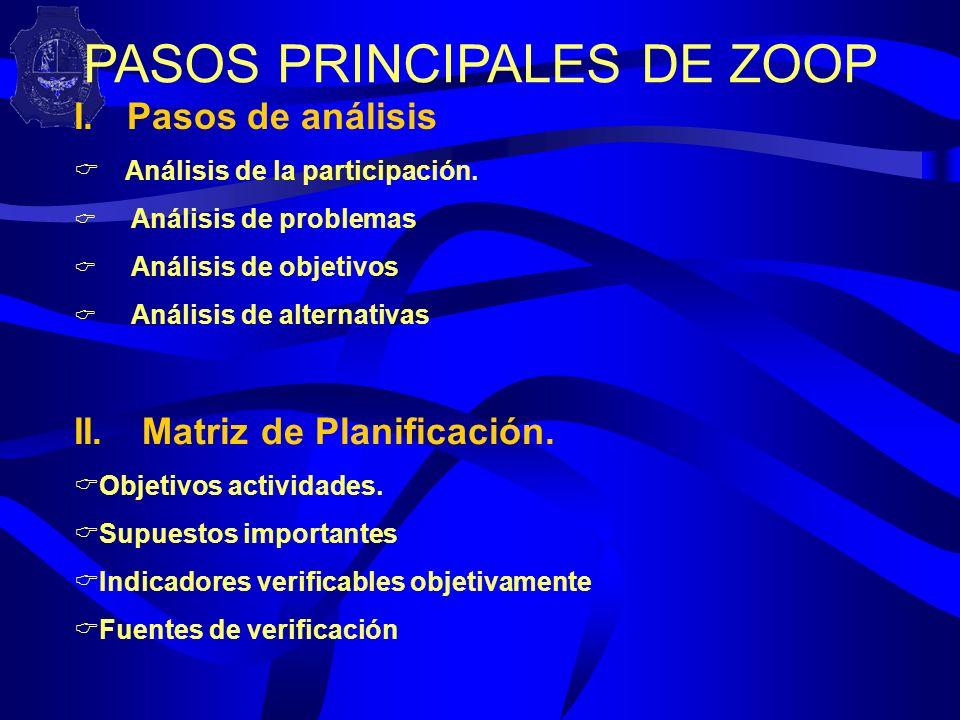 PASOS PRINCIPALES DE ZOOP