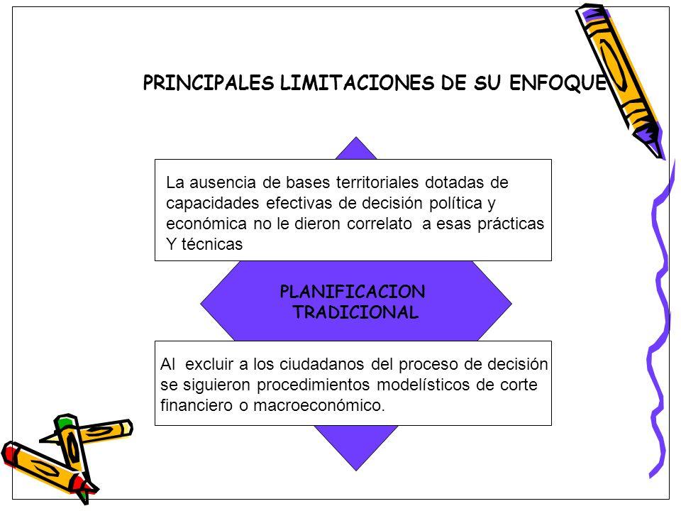 PRINCIPALES LIMITACIONES DE SU ENFOQUE