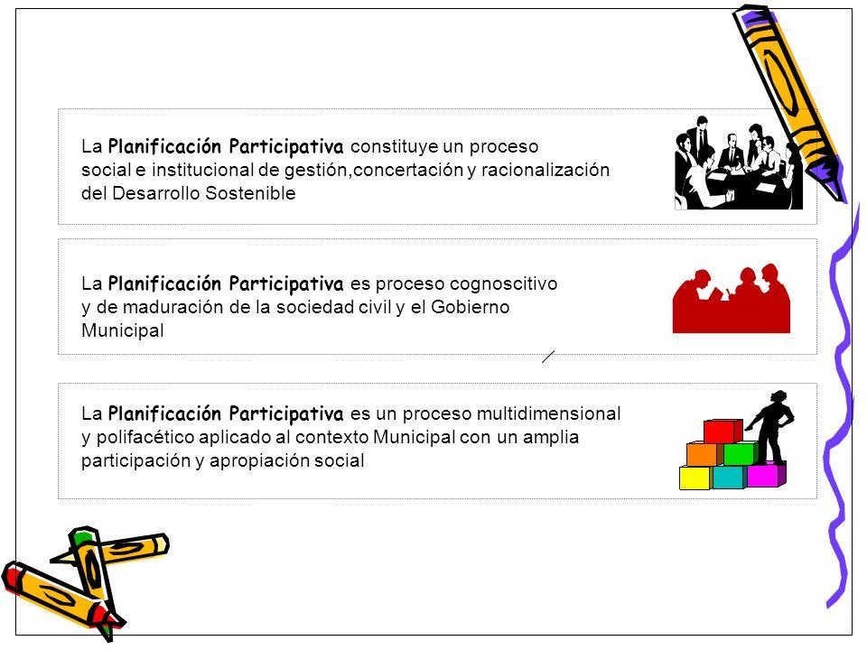 La Planificación Participativa constituye un proceso