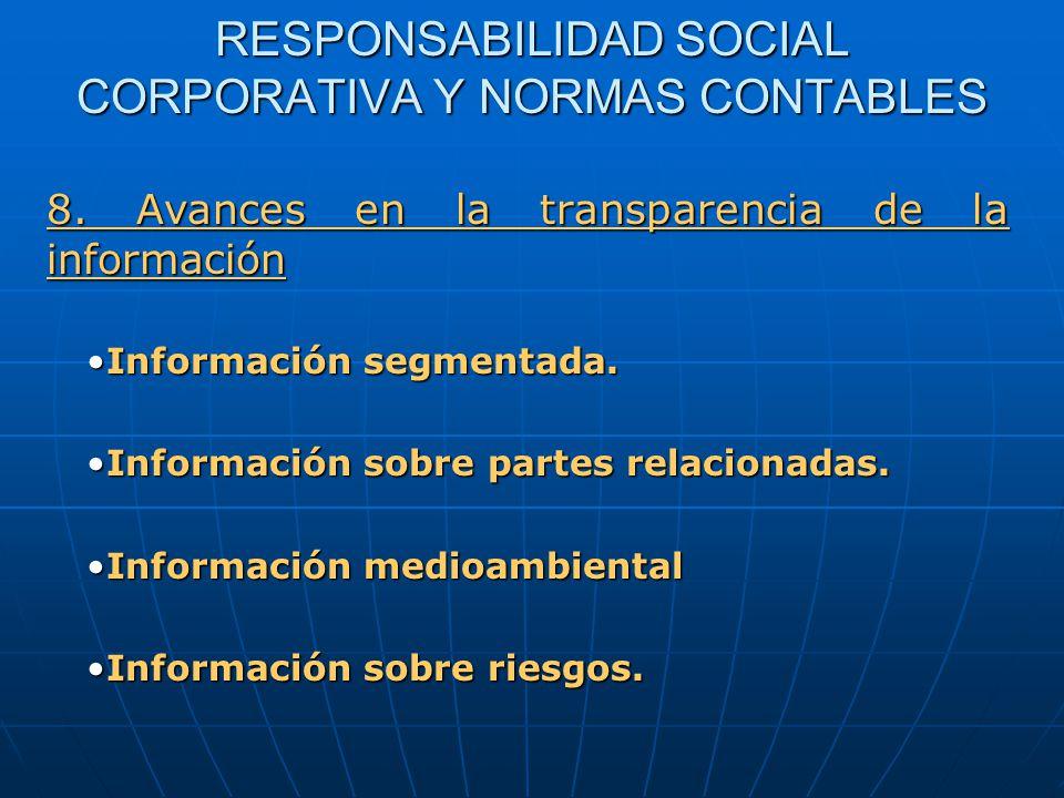 RESPONSABILIDAD SOCIAL CORPORATIVA Y NORMAS CONTABLES