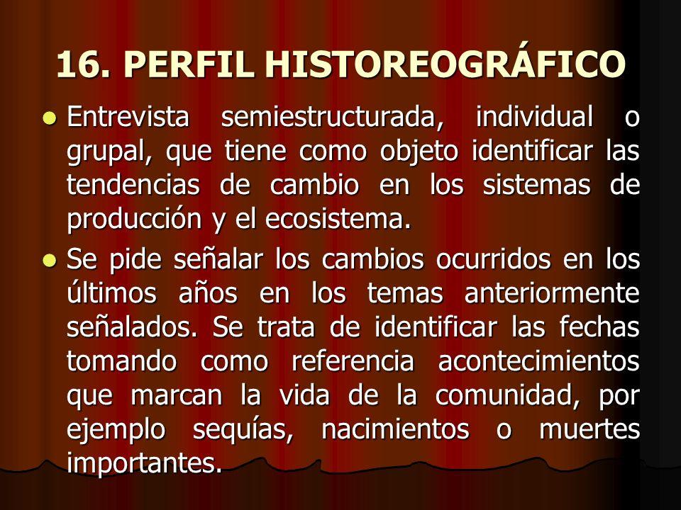 16. PERFIL HISTOREOGRÁFICO