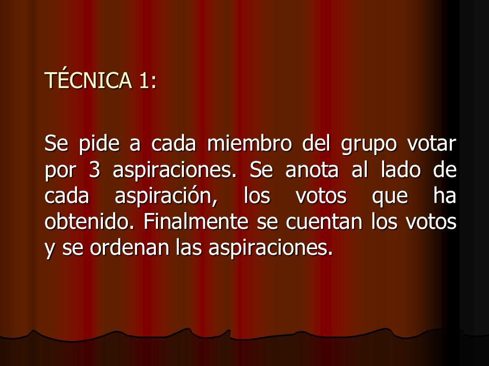 TÉCNICA 1: