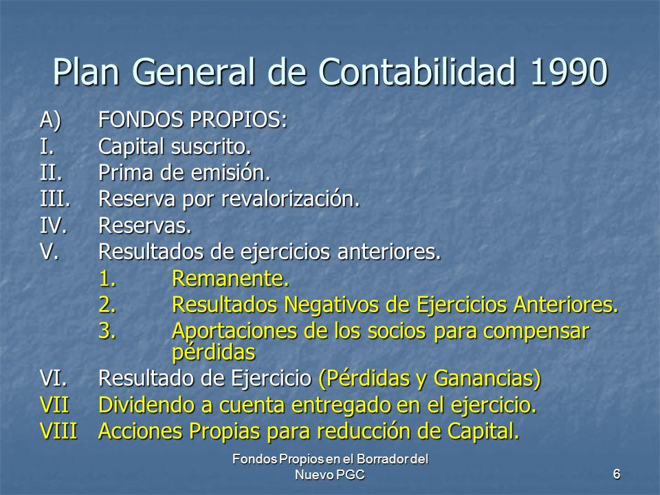 Plan General de Contabilidad 1990