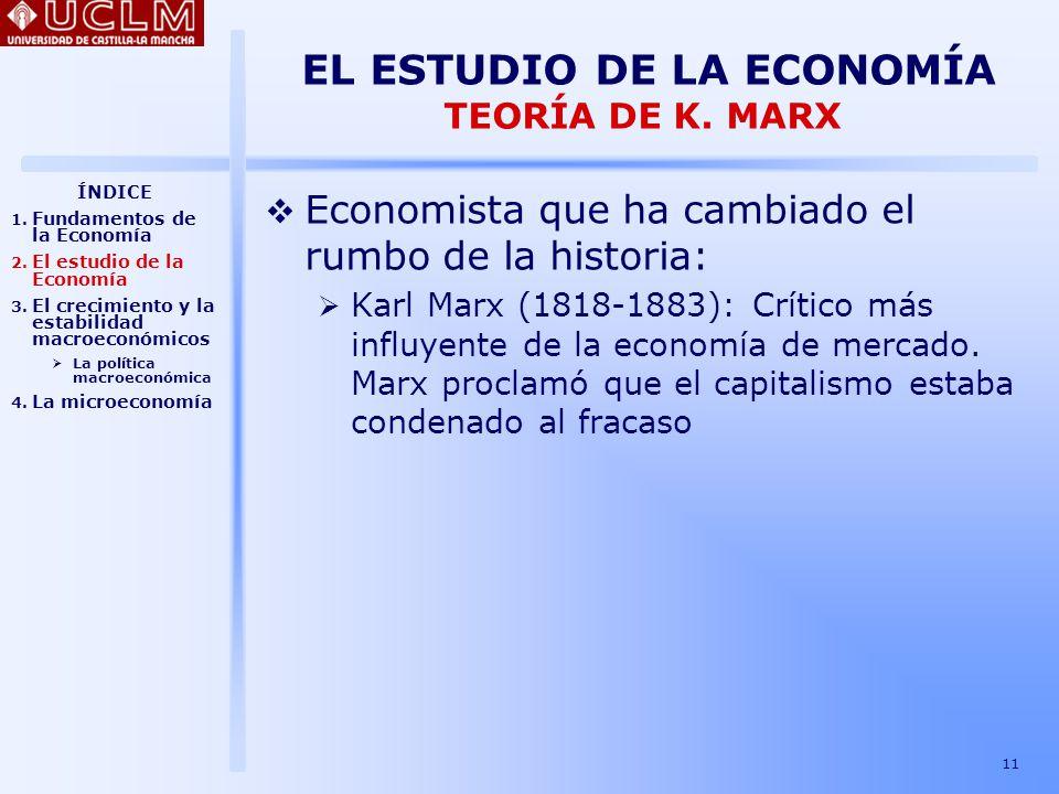 EL ESTUDIO DE LA ECONOMÍA TEORÍA DE K. MARX