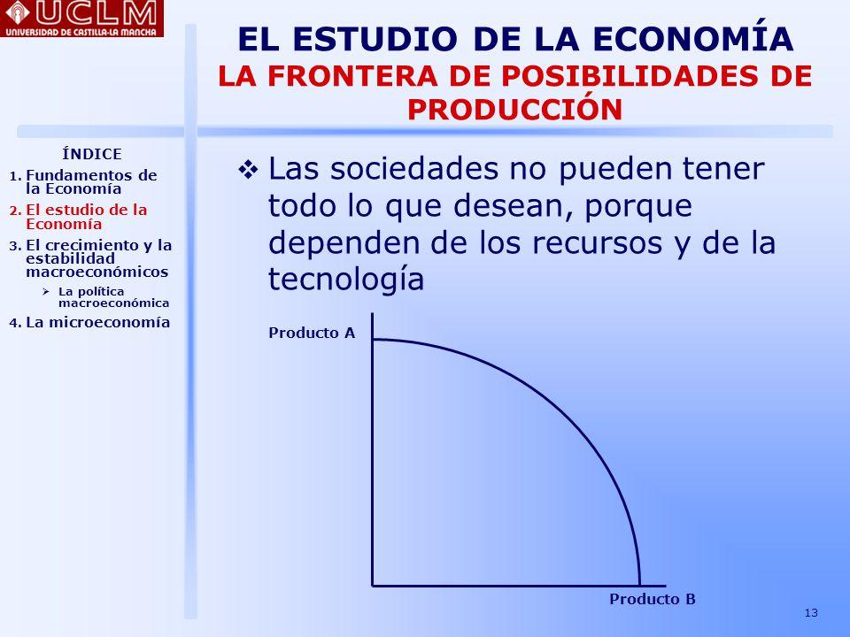 EL ESTUDIO DE LA ECONOMÍA LA FRONTERA DE POSIBILIDADES DE PRODUCCIÓN