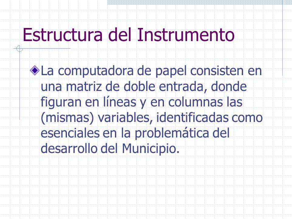 Estructura del Instrumento