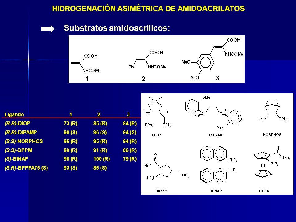 HIDROGENACIÓN ASIMÉTRICA DE AMIDOACRILATOS