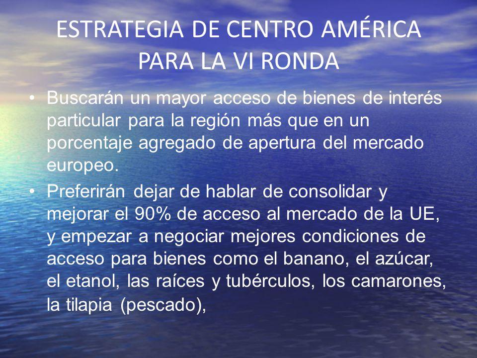 ESTRATEGIA DE CENTRO AMÉRICA PARA LA VI RONDA