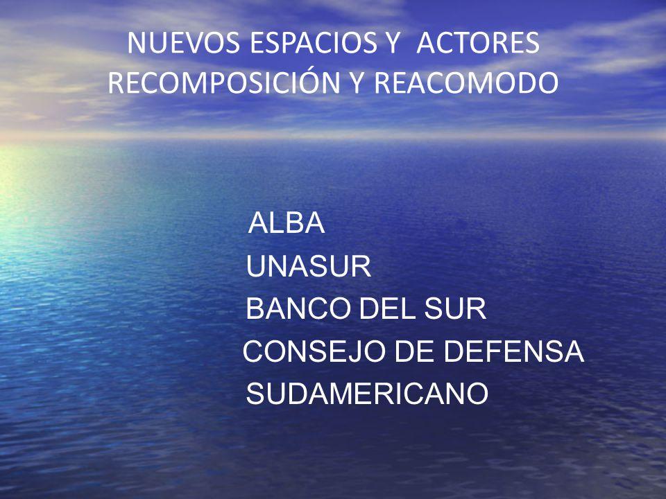 NUEVOS ESPACIOS Y ACTORES RECOMPOSICIÓN Y REACOMODO