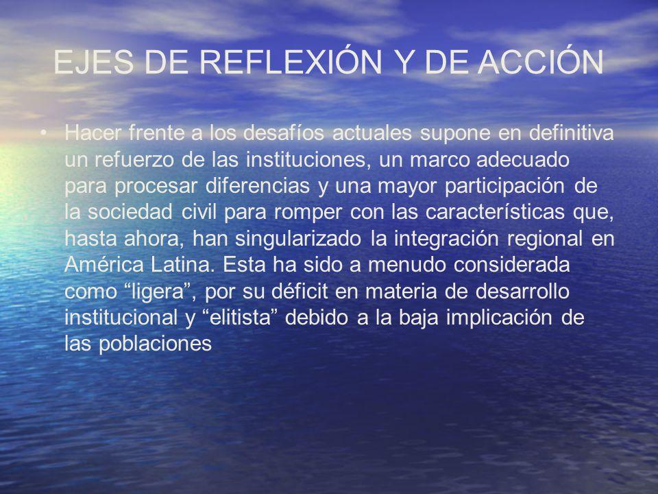 EJES DE REFLEXIÓN Y DE ACCIÓN