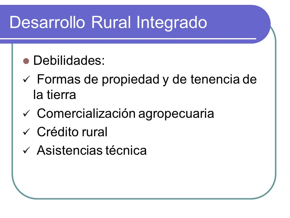 Desarrollo Rural Integrado