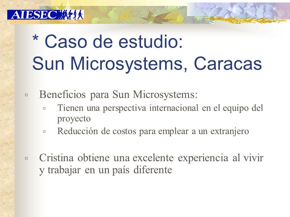 * Caso de estudio: Sun Microsystems, Caracas