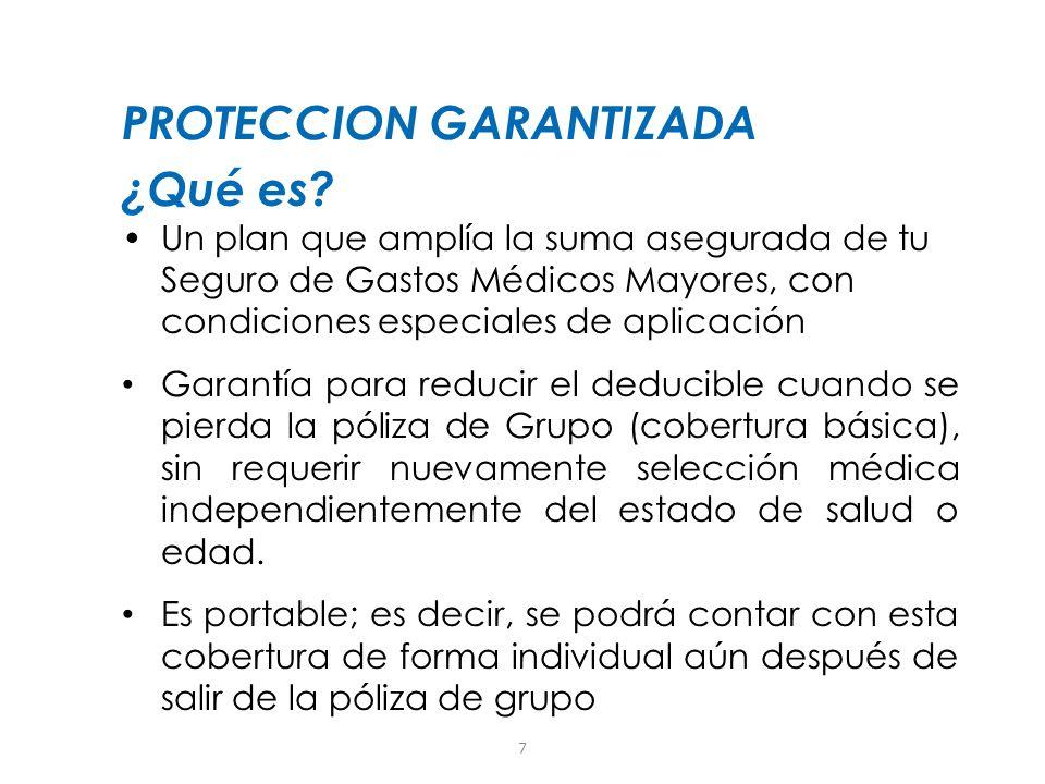 PROTECCION GARANTIZADA ¿Qué es
