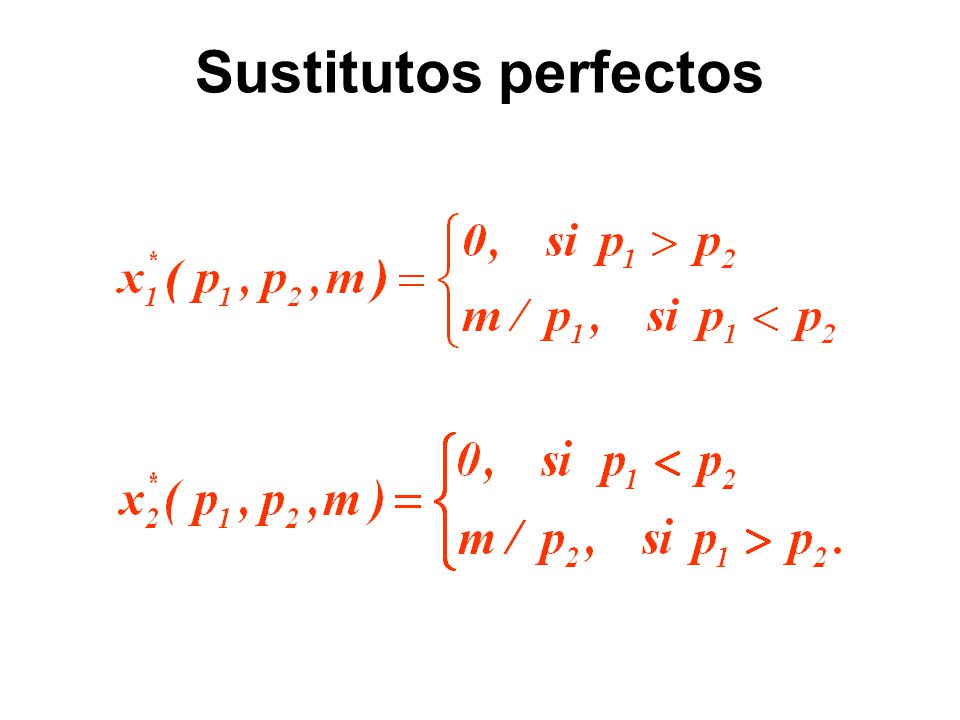 Sustitutos perfectos