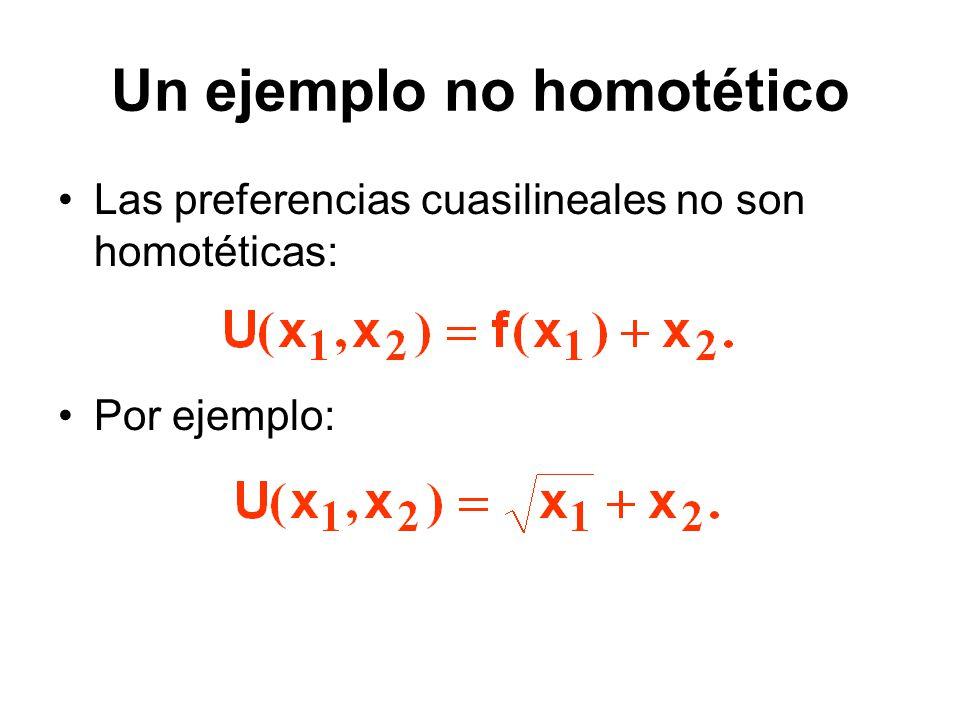 Un ejemplo no homotético