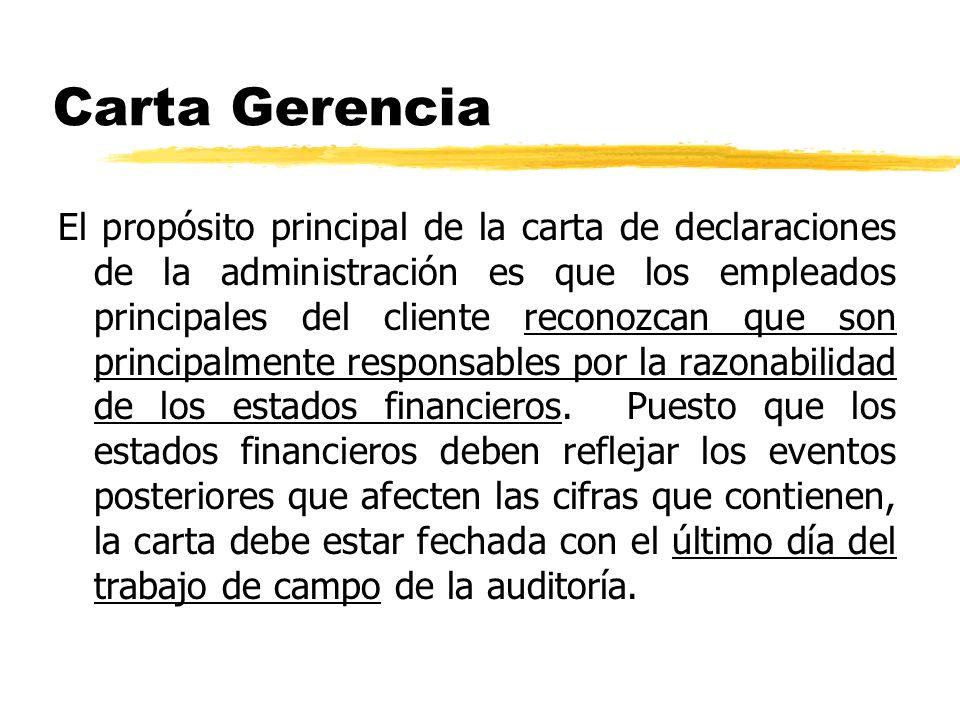 Carta Gerencia