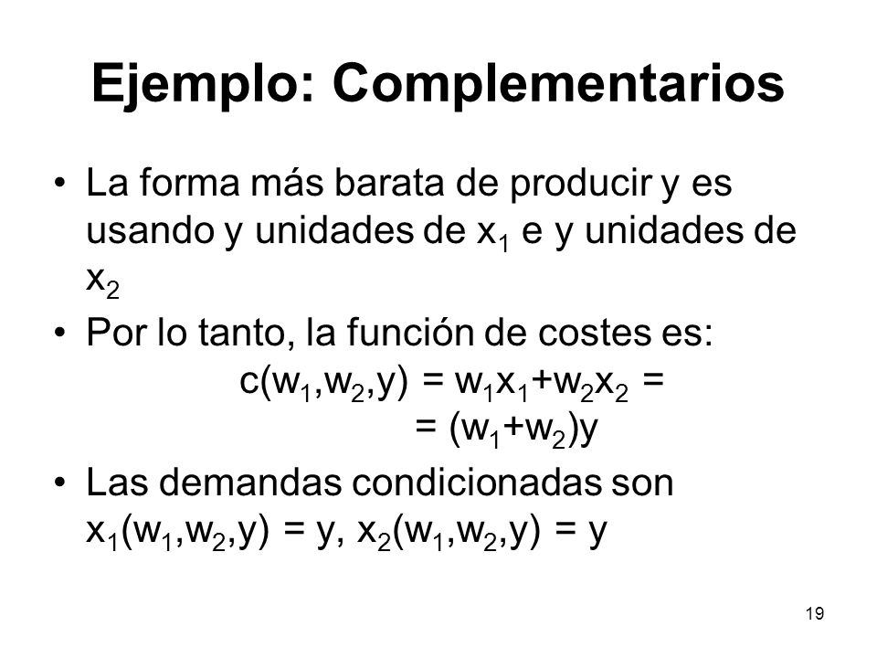 Ejemplo: Complementarios