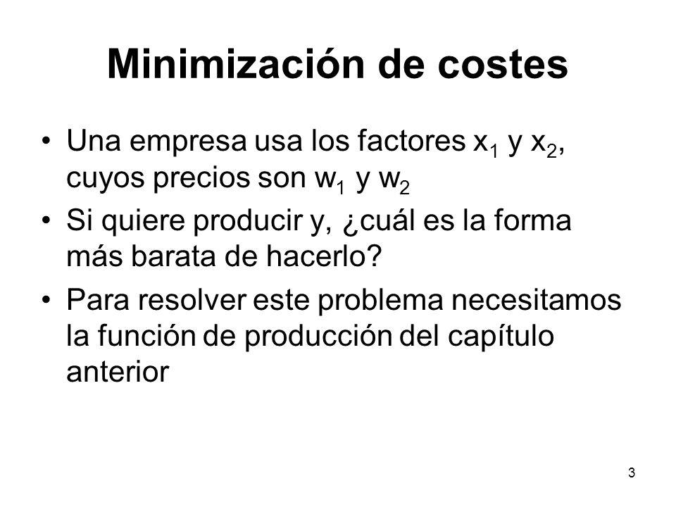 Minimización de costes