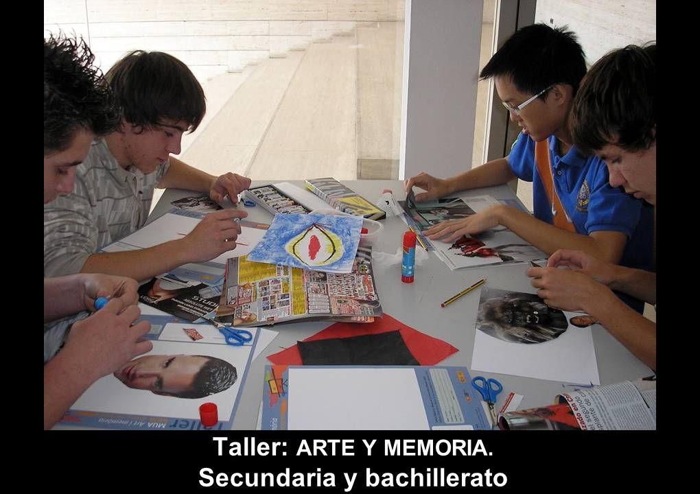 Taller: ARTE Y MEMORIA. Secundaria y bachillerato