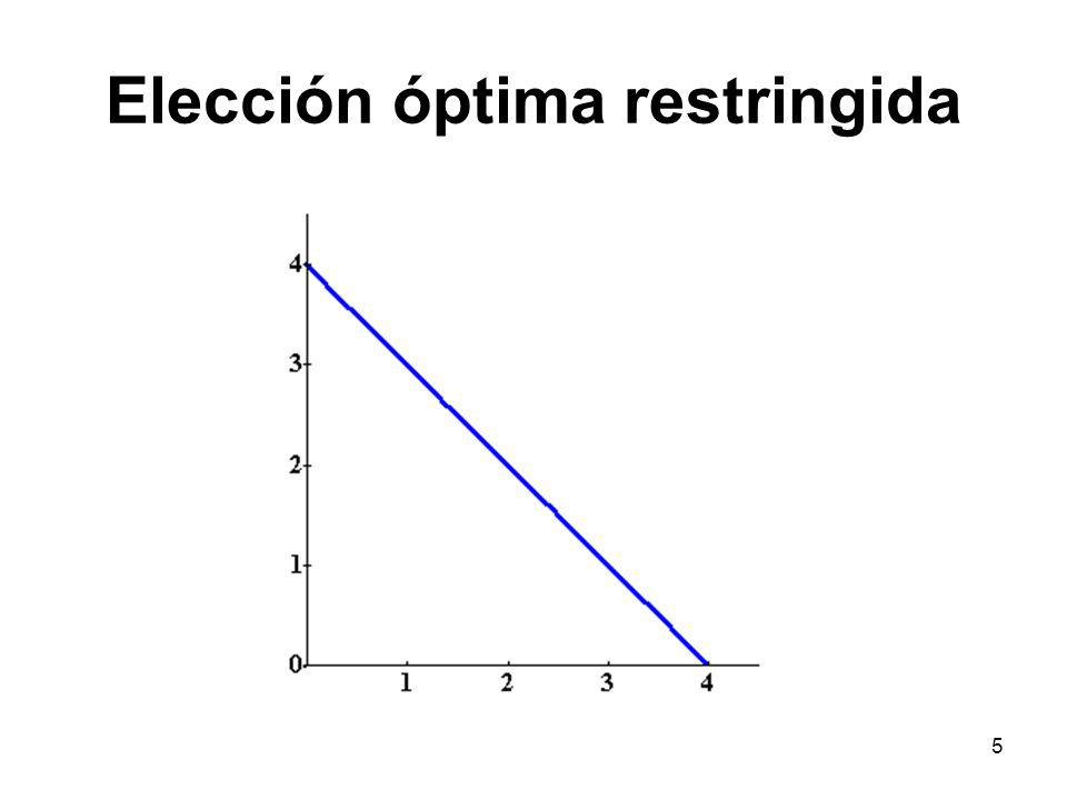 Elección óptima restringida