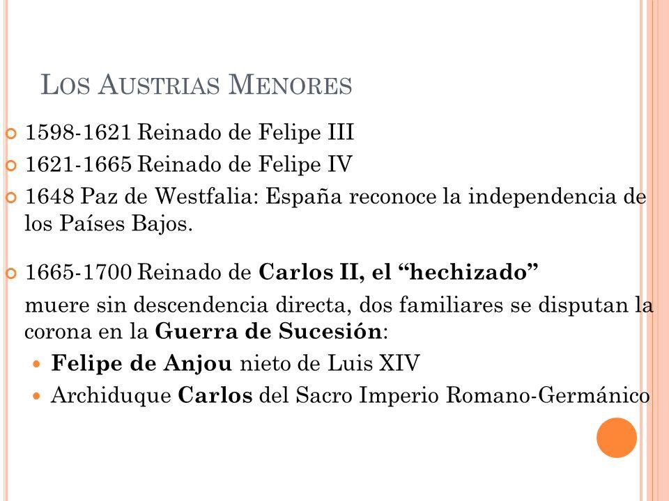 Los Austrias Menores 1598-1621 Reinado de Felipe III