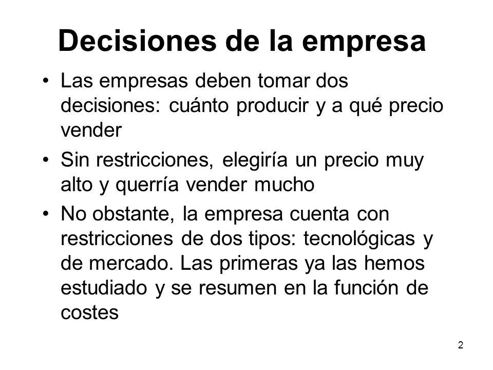 Decisiones de la empresa