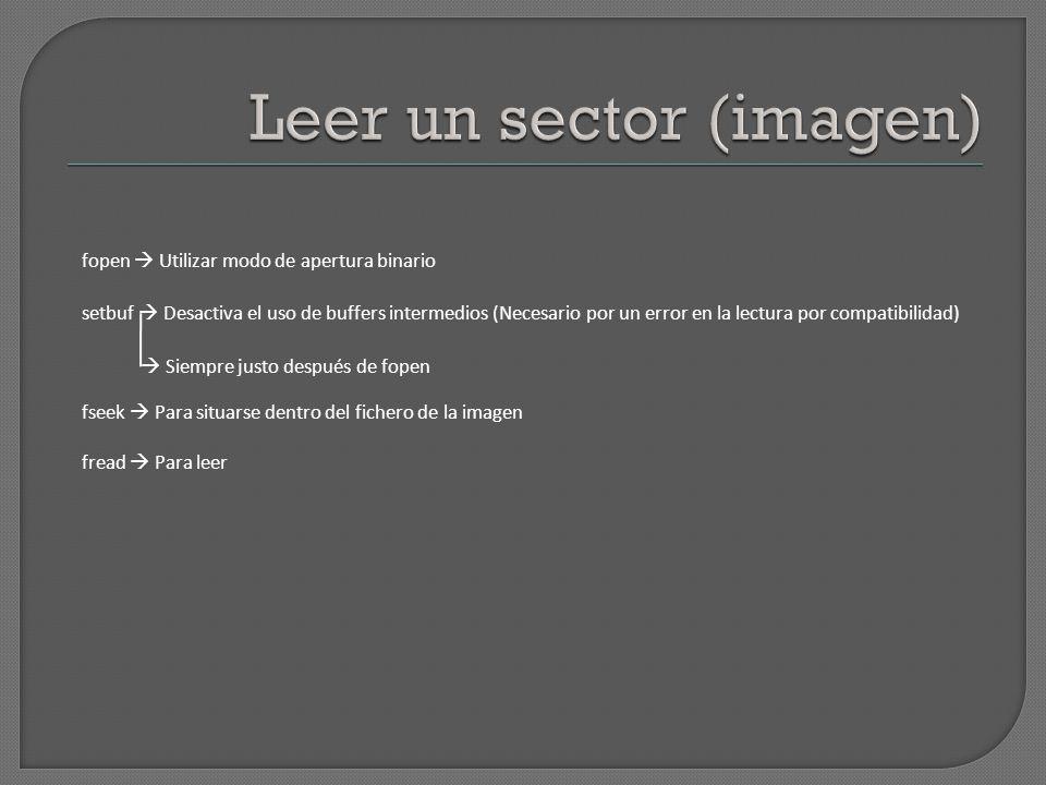 Leer un sector (imagen)