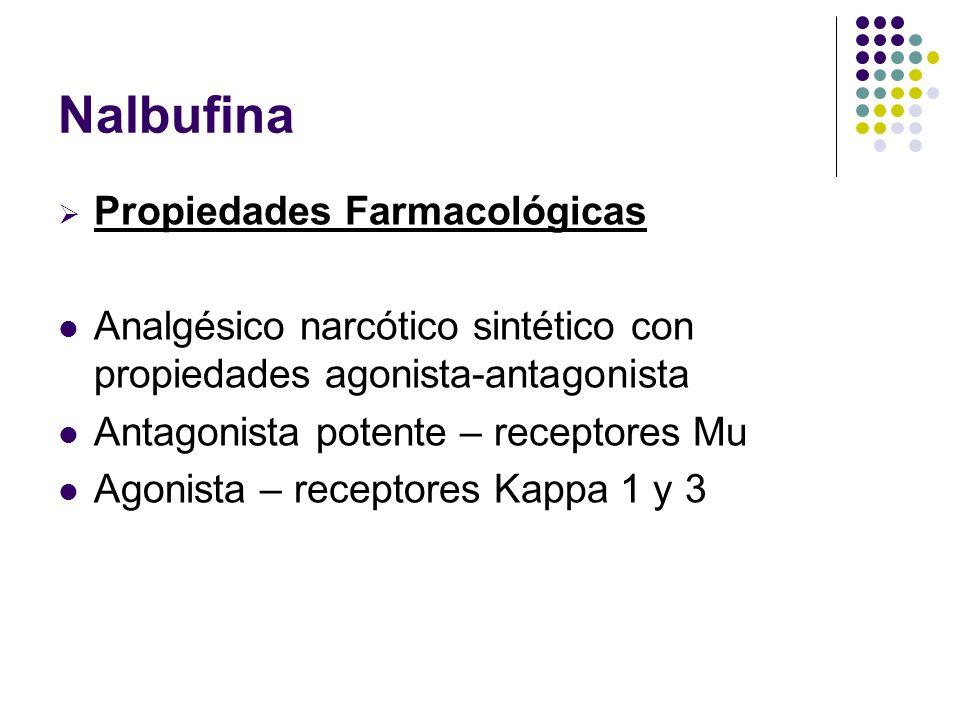 Nalbufina Propiedades Farmacológicas