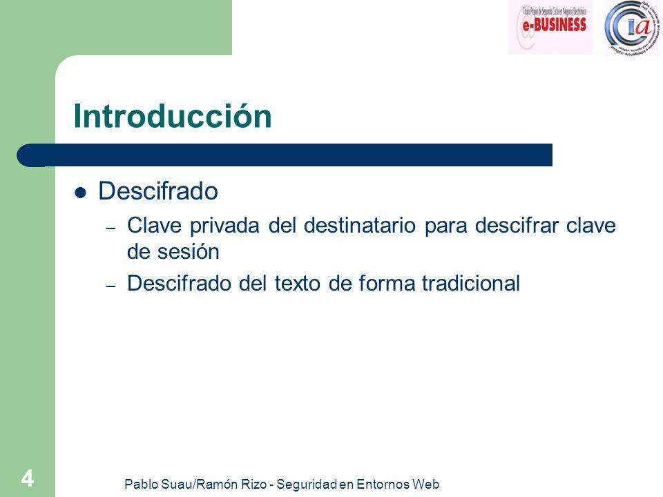 Pablo Suau/Ramón Rizo - Seguridad en Entornos Web