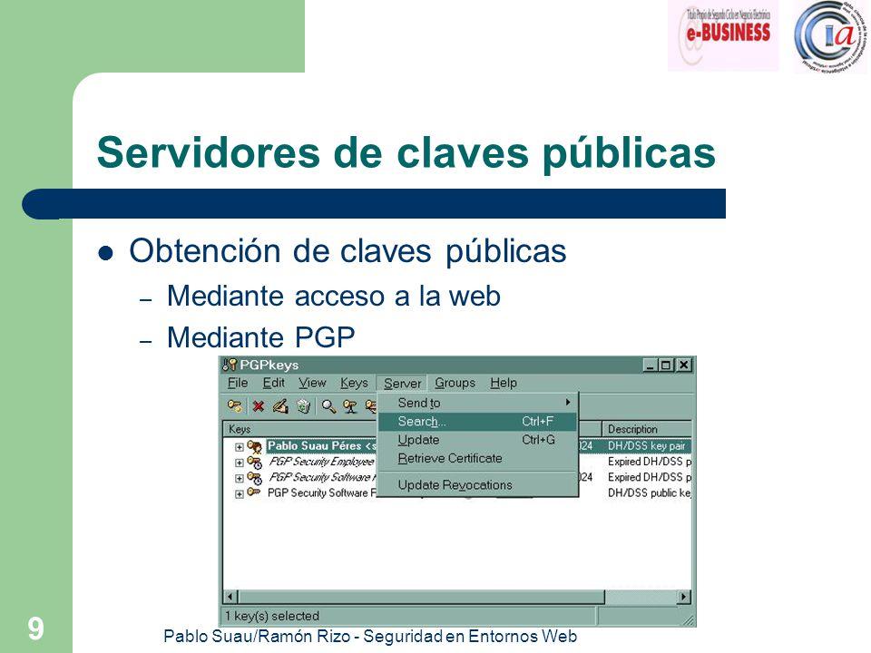 Servidores de claves públicas