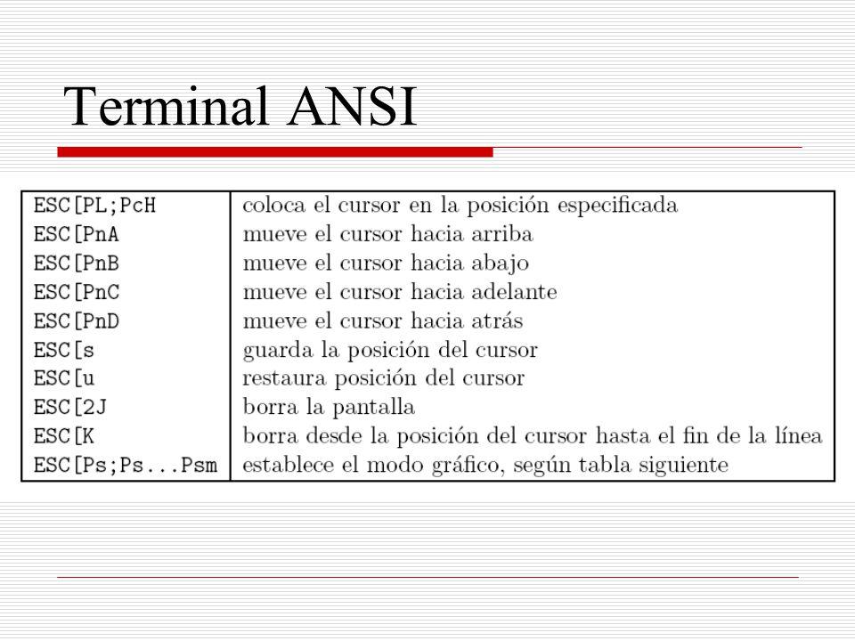 Terminal ANSI