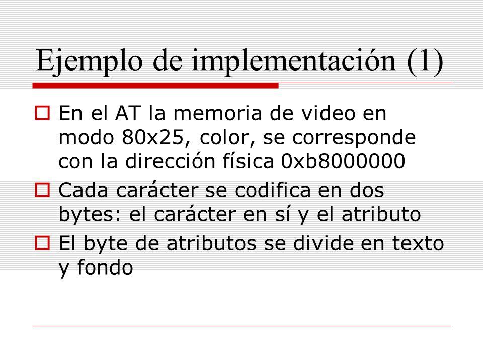 Ejemplo de implementación (1)