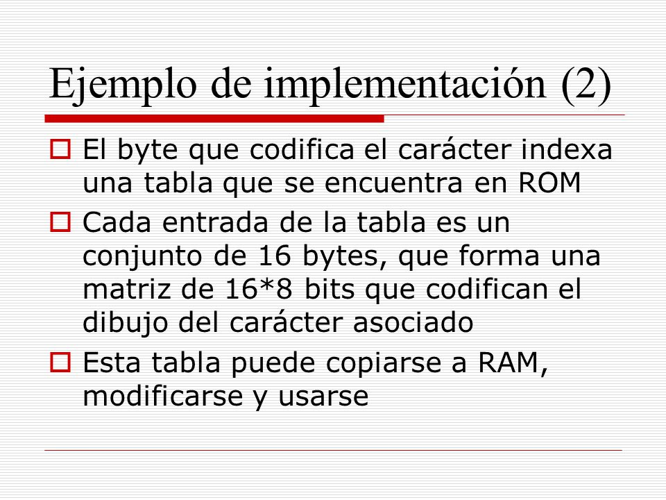 Ejemplo de implementación (2)