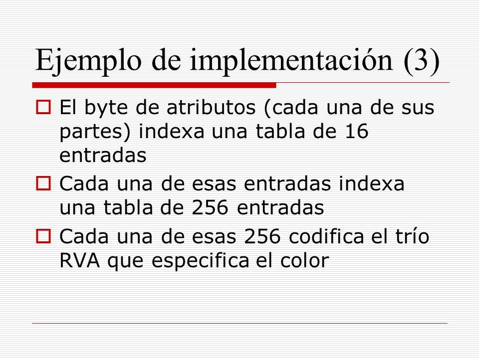 Ejemplo de implementación (3)