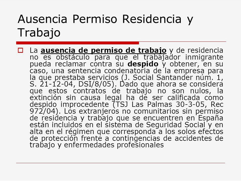 Ausencia Permiso Residencia y Trabajo