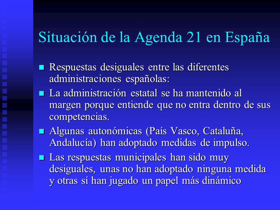 Situación de la Agenda 21 en España